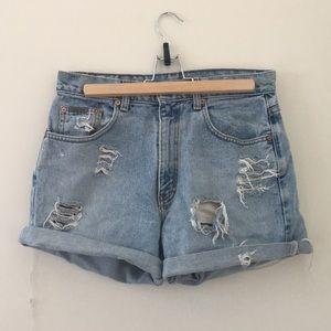 Vintage Calvin Klein high waisted jean shorts